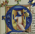Project icon: lavishly furnished initial letter with a painting of Ptolemy using an astrolab.